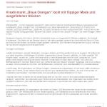 """Kreativmarkt """"Blaue Orangen"""" lockt mit flippiger Mode und ausgefallenen Stücken - Wiesbadener Kurier_Seite_1"""