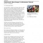 """Wiesbadener Tagblatt - Druckansicht_ Künstlermarkt """"Blaue Orangen"""" im Wiesbadener Tattersall_Seite_1"""