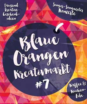 Blaue Orangen Kreativmarkt